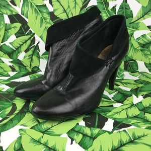 Coach Annika Black Leather Ankle Booties